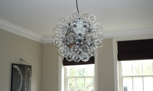 Ceiling light with low energy lights for New Malden dining room