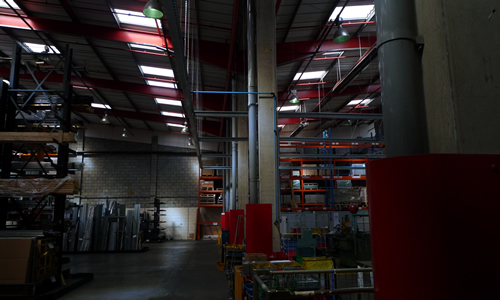 Low energy lighting system installed by Industrial lighting engineer in Southwest London