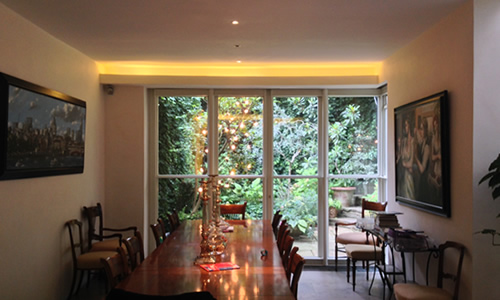 Environmentally friendly LED Lighting installed in Wimbledon House by local electrician