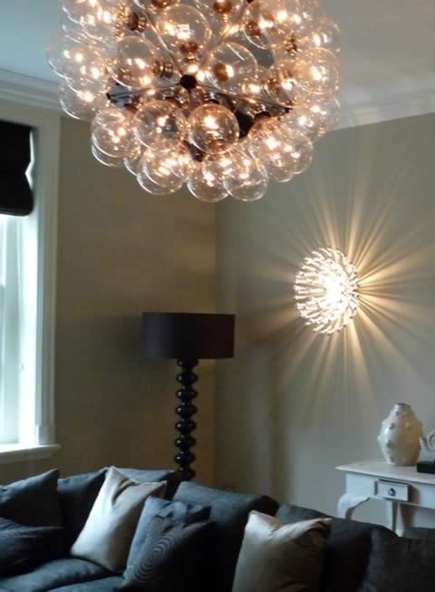 Wall and Ceiling lights installed private residential house in Kingston KT1