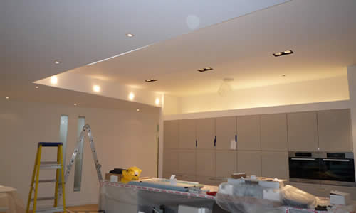 New ceiling lights in Kitchen renovation by Richmond electrician